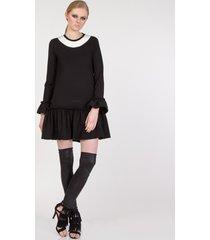 sukienka czarna z falbanką