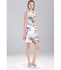 botanical palms dress, women's, white, size 0, josie natori