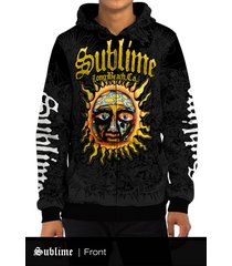 sublime long beach, ca all over print zipper hoodie