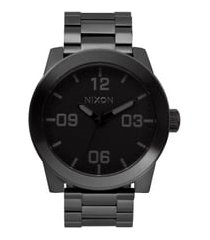 nixon the corporal bracelet watch, 48mm in black at nordstrom