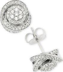 diamond fancy stud earrings (1/2 ct. t.w.) in sterling silver