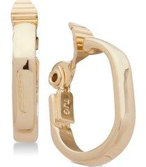 anne klein e-z comfort clip-on small hoop earrings