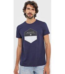 camiseta billabong coaster azul-marinho