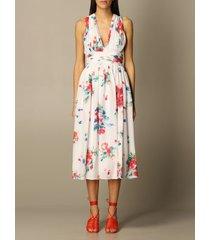 boutique moschino dress long sleeveless silk dress with flower print boutique moschino