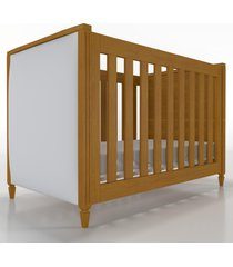 berã‡o 2x1 tudor amadeirado cabeceira estofada timber - branco - dafiti