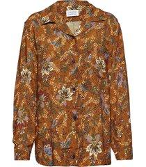plan overhemd met lange mouwen oranje libertine-libertine