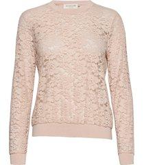 blouse ls blus långärmad rosa rosemunde