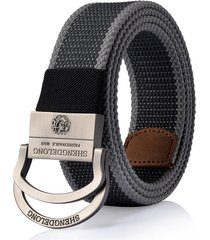 125cm mens canvas double ring in lega di zinco fibbia cintura outdoor military tactical jeans waistband