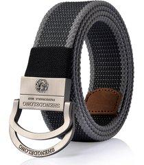 cintura tattica militare militare esterna della cinghia dell'inarcamento della lega dello zinco doppio della tela di canapa del mens 125cm