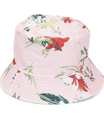 lulla collection by bindya women's floral bucket hat - pink
