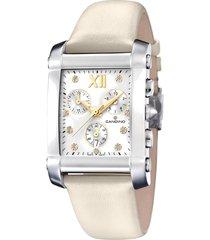 reloj elegance flair beige candino