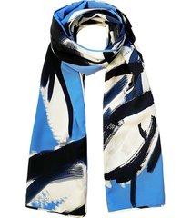 natori petal paint stroke scarf, women's, blue natori