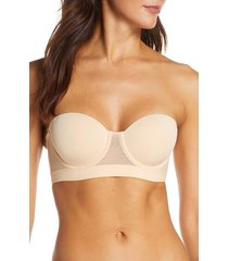 women's lively the lined strapless bra, size 38d - beige