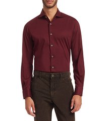 collection solid button-down cotton shirt