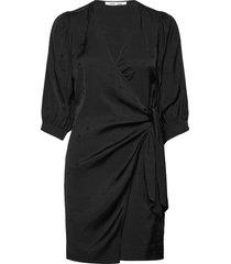 celestina wrap dress 14025 dresses wrap dresses svart samsøe samsøe