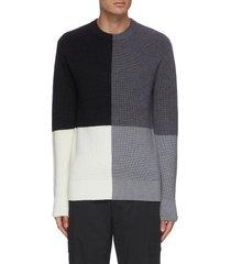 'denton' colourblock merino wool sweater