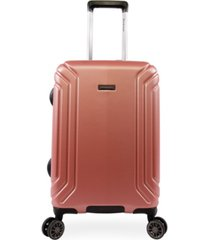 "brookstone brett 21"" hardside carry-on luggage with charging port"