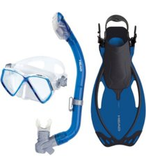 head swimgear head pirate dry snorkeling scuba mask flippers set with travel bag