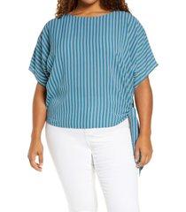 plus size women's michael michael kors stripe side tie top