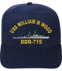 uss william m wood ddr-715  ball cap ..new..ship hat