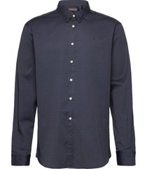 dalton button under shirt skjorta casual blå morris