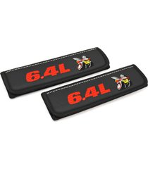scat pack seat belt covers leather shoulder pad interior accessories with emblem