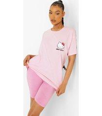 oversized gelicenseerd hello kitty t-shirt, light pink