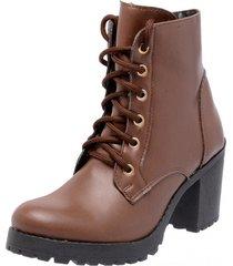 bota coturno mega boots 1407 marrom
