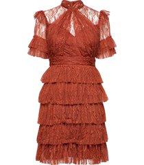 liona dress jurk knielengte oranje by malina