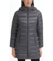charter club packable hooded down puffer coat, created for macy's