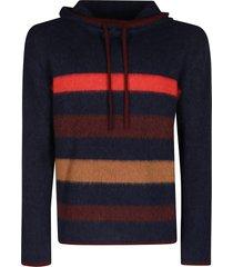 lanvin multicolor alpaca-cashmere-silk blend sweatshirt