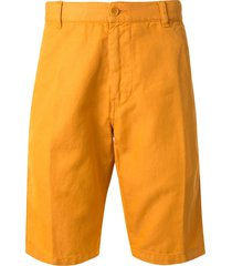 aspesi straight-leg bermuda shorts - orange
