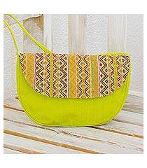cotton shoulder bag, 'tropical whisper' (guatemala)