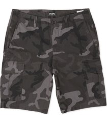 billabong men's scheme core-fit camouflage cargo shorts