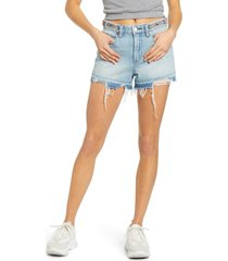 women's blanknyc barrow beaded waist denim shorts