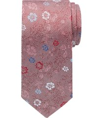 joseph abboud red floral narrow tie