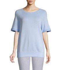 raglan-sleeve roundneck sweater