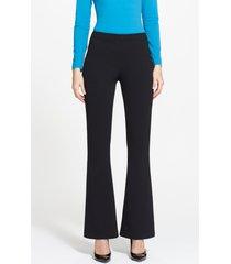 women's st. john collection kasia milano knit bootcut pants, size 2 - black