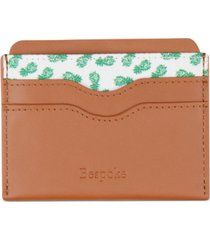 bespoke men's leather & pineapple print card case