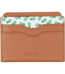 bespoke men's leather & pineapple print card case