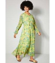 maxi-jurk angel of style geel::groen