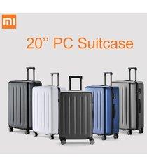 xiaomi 90fun 20 pulgadas pc maleta llevar equipaje de vacaciones tsa lock viajes de negocios - negro