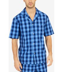 nautica men's buffalo plaid short-sleeve cotton pajama shirt