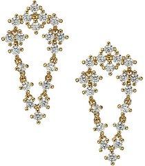 goldtone & cubic zirconia draped earrings