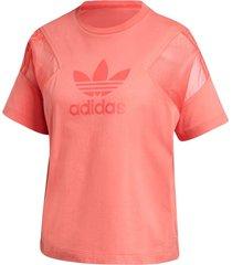 camiseta adidas originals ss t-shirt rosa - rosa - feminino - dafiti