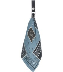 amiri bandana-print scarf keyring - black
