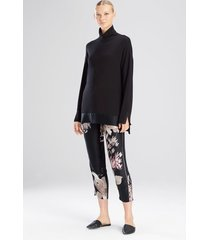 suprema top pajamas, women's, black, 100% silk, size xs, josie natori