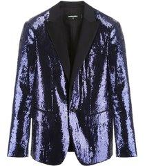 dsquared2 sequins tuxedo jacket