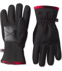 softshell trail gloves, black