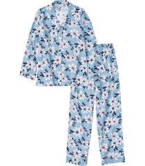 pigiama in flanella (blu) - bpc bonprix collection